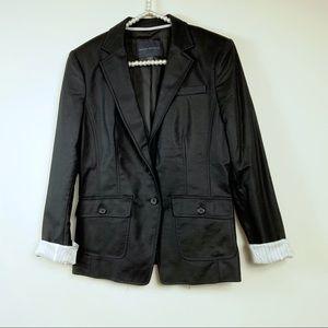 Banana Republic black blazer size 8 cotton stretch